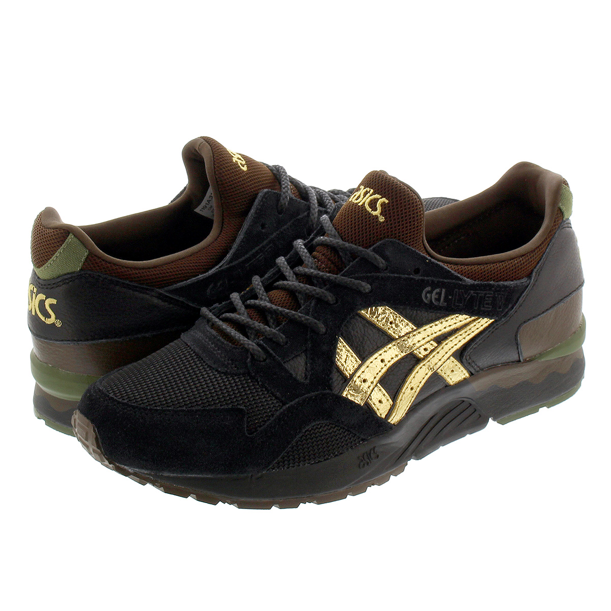 "ASICS GEL-LYTE V ""KLKOGANE"" for KICKS LAB. 【KICKSLAB. x ASICS】 アシックス ゲルライト 5 BLACK/BROWN/GREEN 1191a311-001"