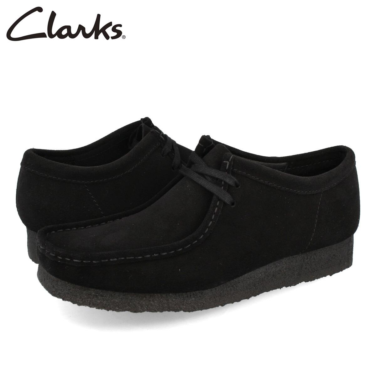 大特価 送料無料 CLARKS ORIGINALS クラークス ブーツ モカシン シューズ メンズ カジュアル ブラック 26155519 スウェード WALLABEE SUEDE 黒 ワラビー BLACK スエード クレープソール 新発売