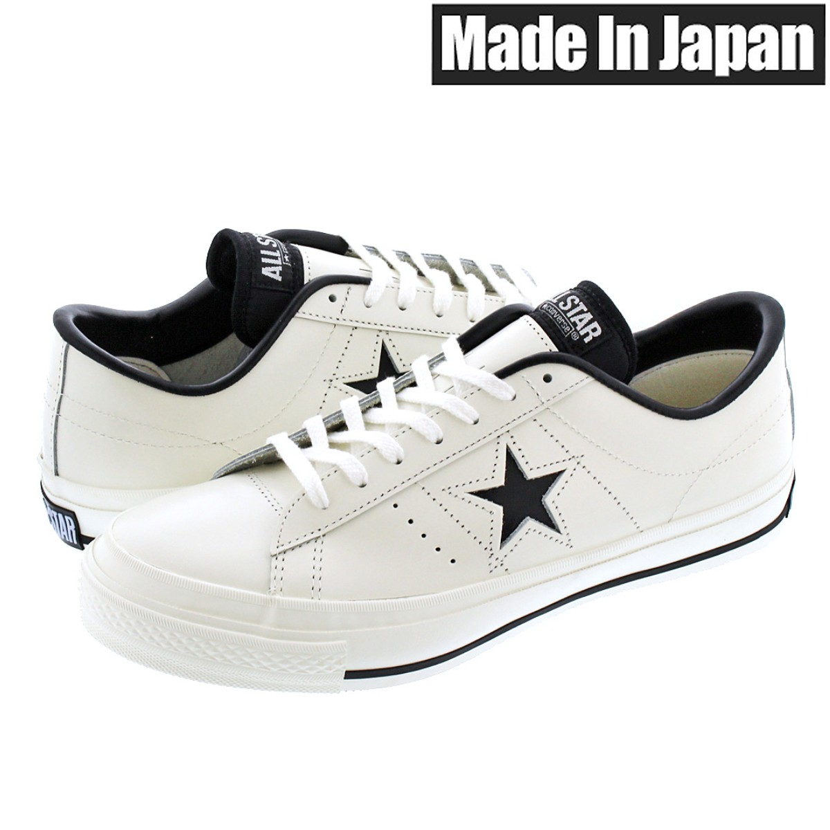 83b873c5b086 SELECT SHOP LOWTEX  CONVERSE ONE STAR J WHITE BLACK  MADE IN JAPAN ...