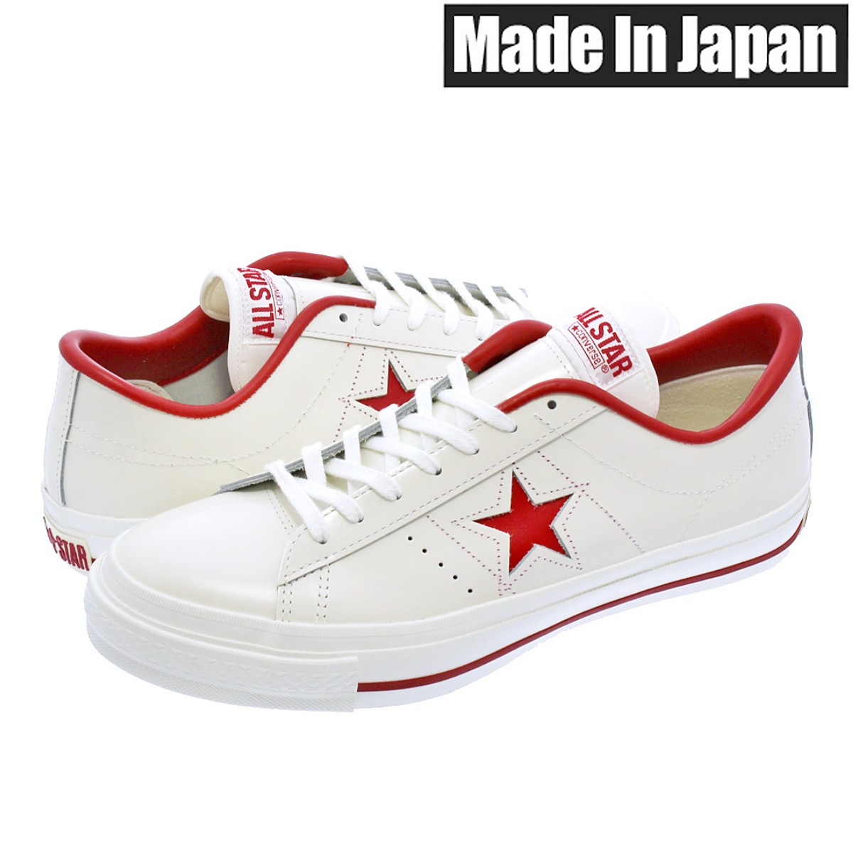 CONVERSE ONE STAR J 【MADE IN JAPAN】【日本製】【メンズ】【レディース】コンバース ワンスター J WHITE/RED
