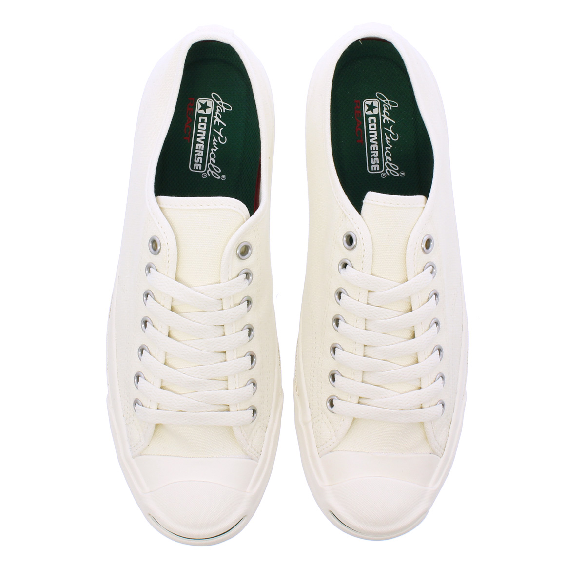 8a88c83923780f CONVERSE JACK PURCELL WR CANVAS R Converse Jack Pursel WR canvas R  WHITE GREEN 1CL198