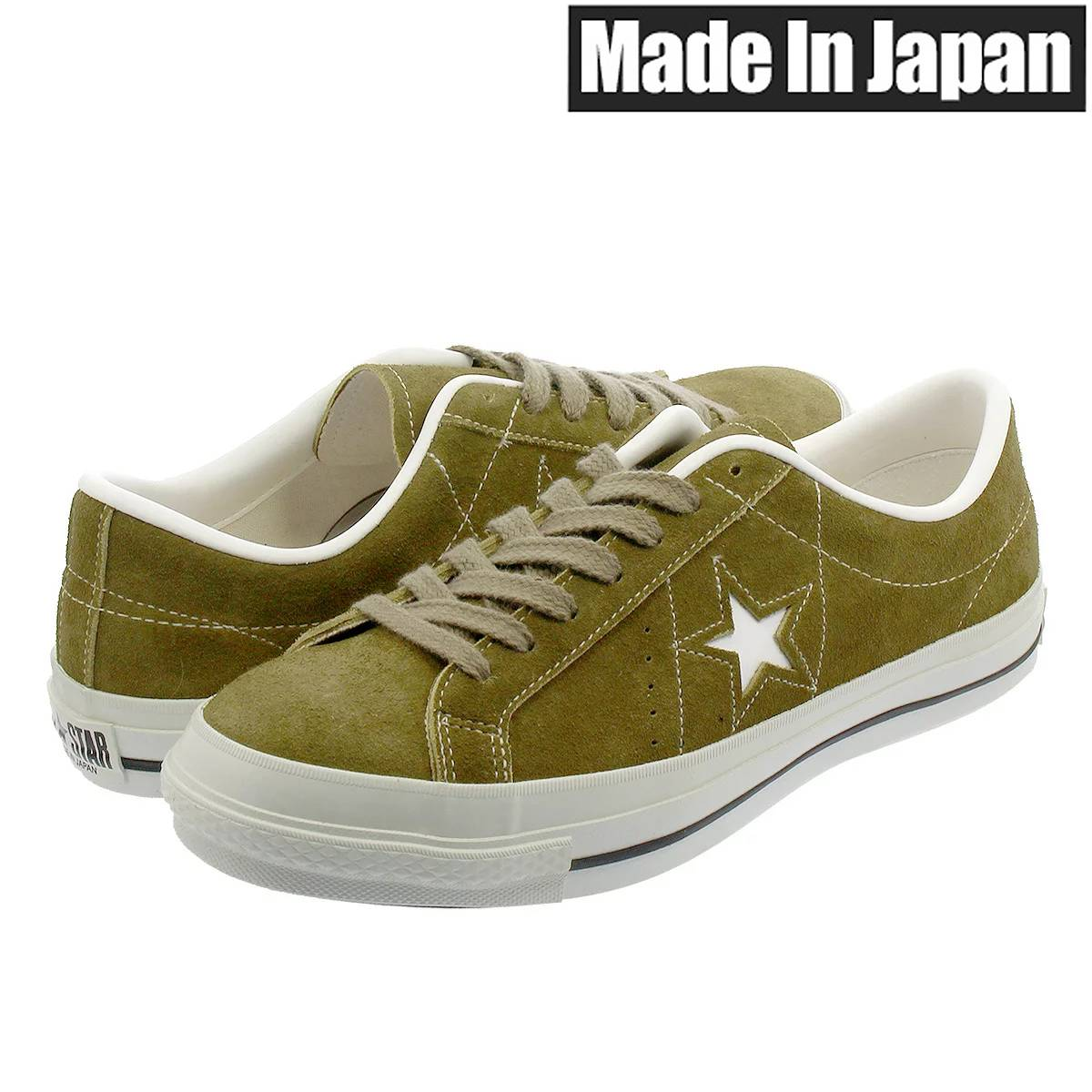 CONVERSE ONE STAR J SUEDE 【日本製】 コンバース ワンスター J スエード OLIVE 32356914