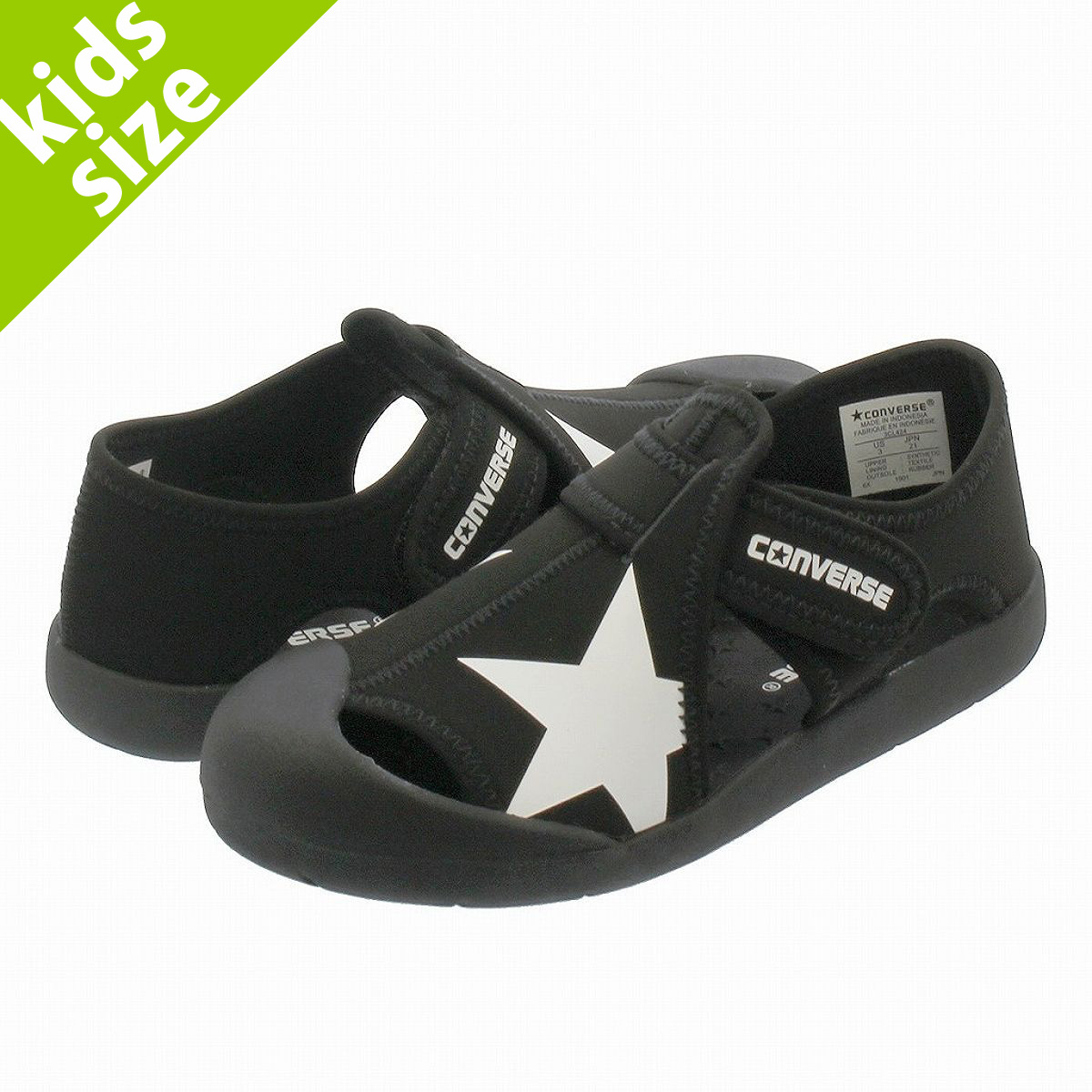 CONVERSE KID'S CVSTAR SANDAL Converse kids CV star sandals BLACK 32713471