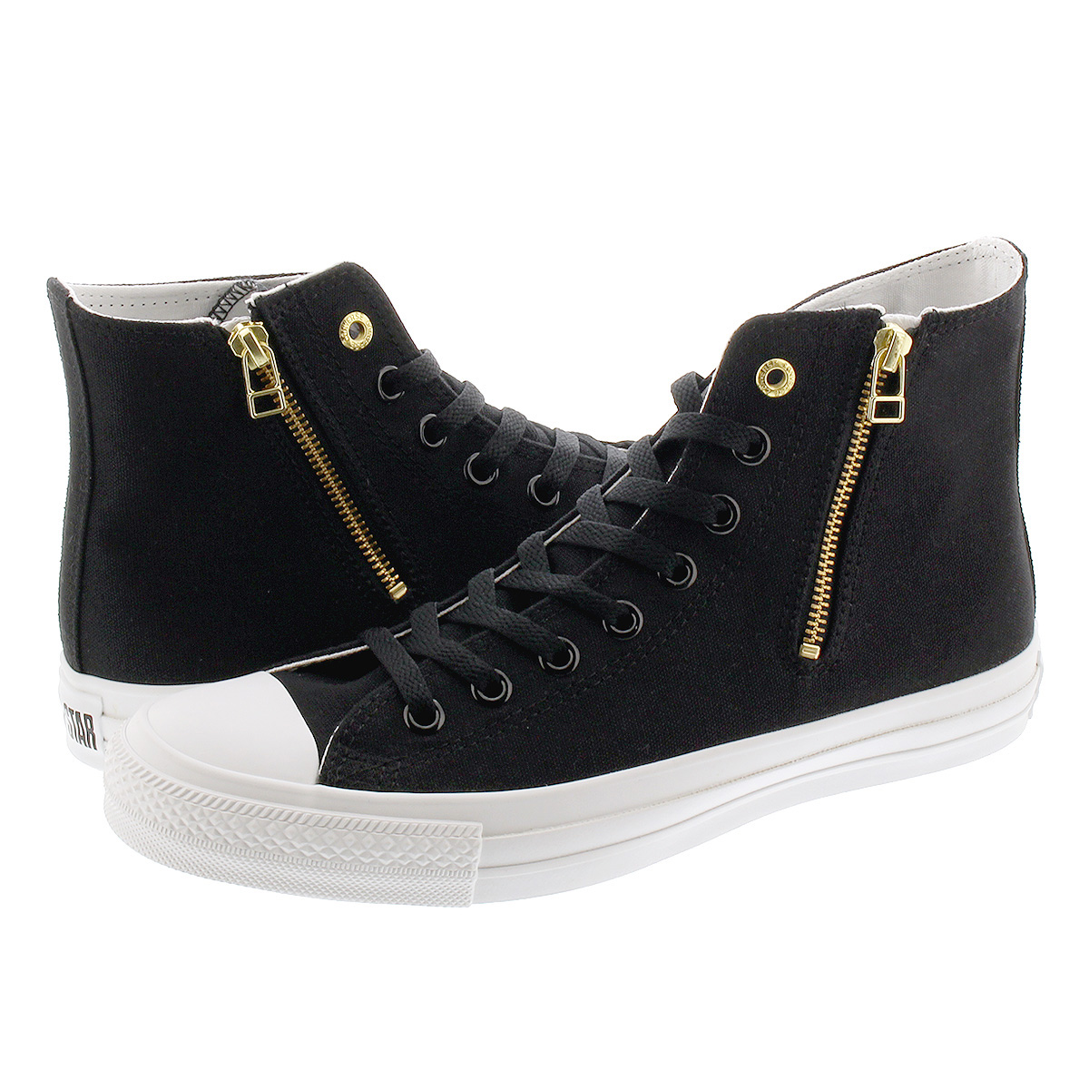 CONVERSE ALL STAR GOLDZIP II HI Converse all stars gold zip 2 high BLACK 31301531