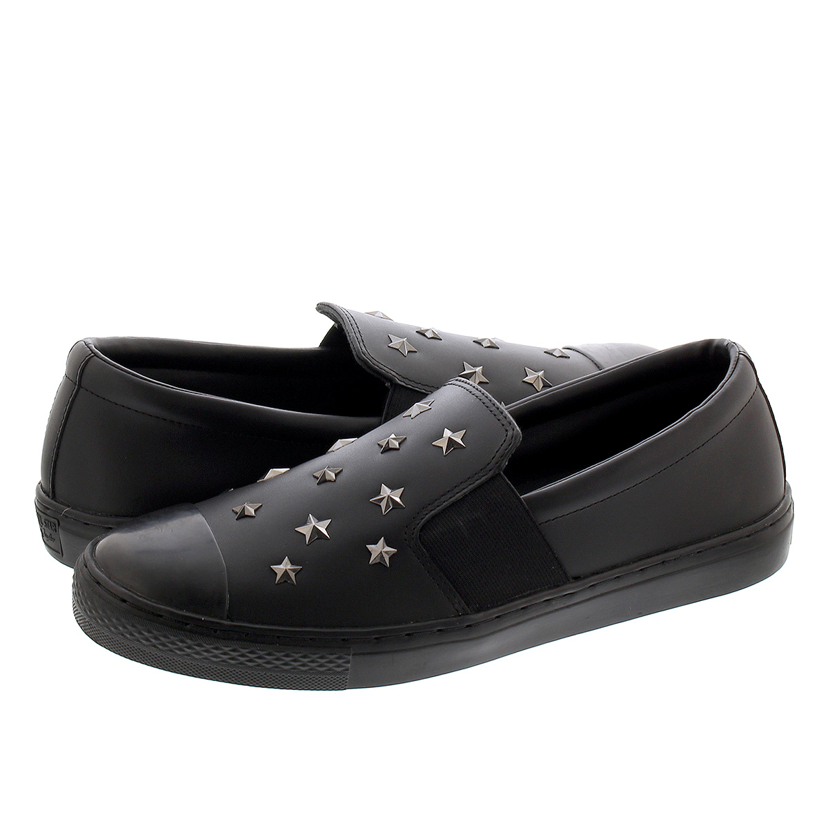 CONVERSE ALL STAR COUPE STARS SLIP-ON コンバース レザー オールスター クップ スターズ スリップオン BLACK 31301750