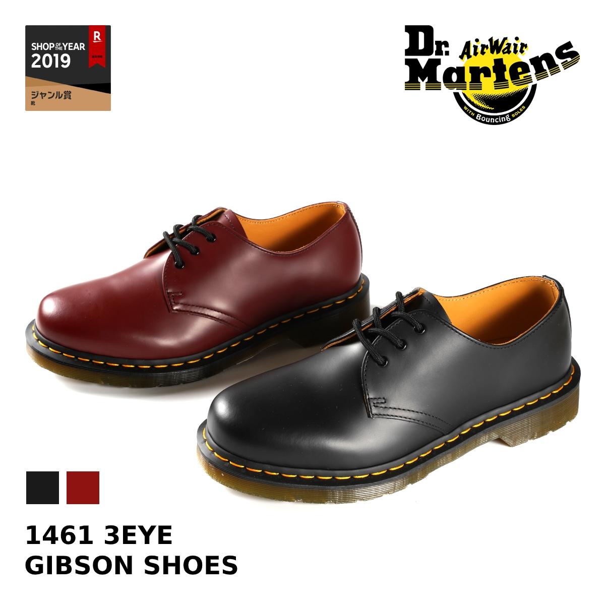Dr.Martens 1461 3EYE GIBSON SHOES 【メンズ】【レディース】ドクター マーチン 3アイレット ギブソンシュー 3ホール BLACK(R11838002) / CHERRY RED(R11838600)