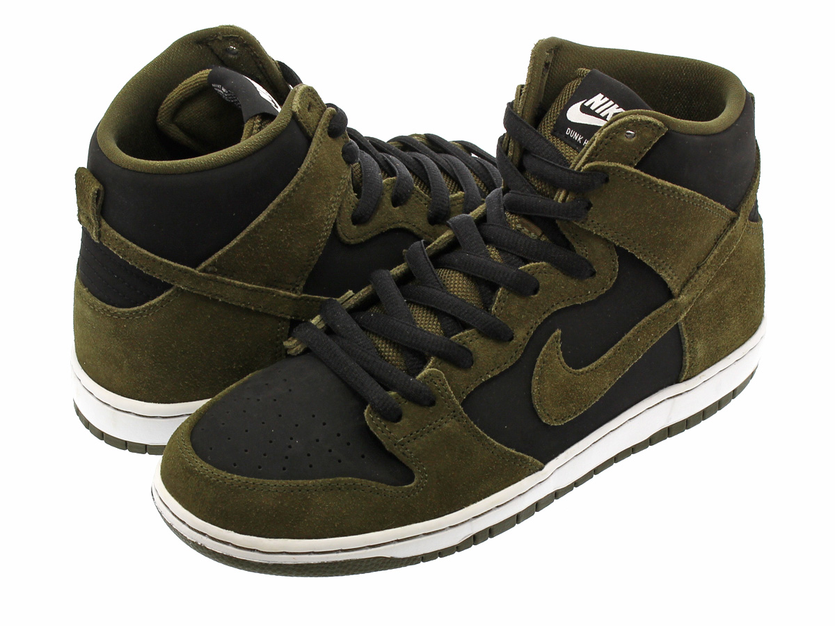 eeb8d54b4f8c NIKE SB ZOOM DUNK HIGH PRO Nike SB zoom dunk high professional DARK LODEN  BLACK ...