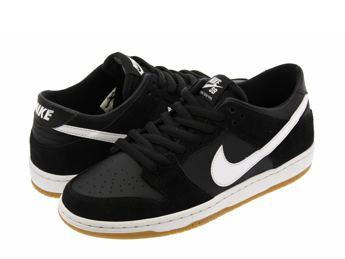 NIKE SB ZOOM DUNK LOW PRO Nike SB zoom dunk low pro BLACK/WHITE GUM/LIGHT  BROWN