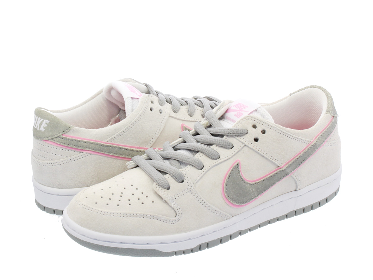 NIKE SB ZOOM DUNK LOW PRO IW Nike zoom dunk low pro SB IW WHITE PERFECT  PINK FLAT SILVER 37a52dd5d