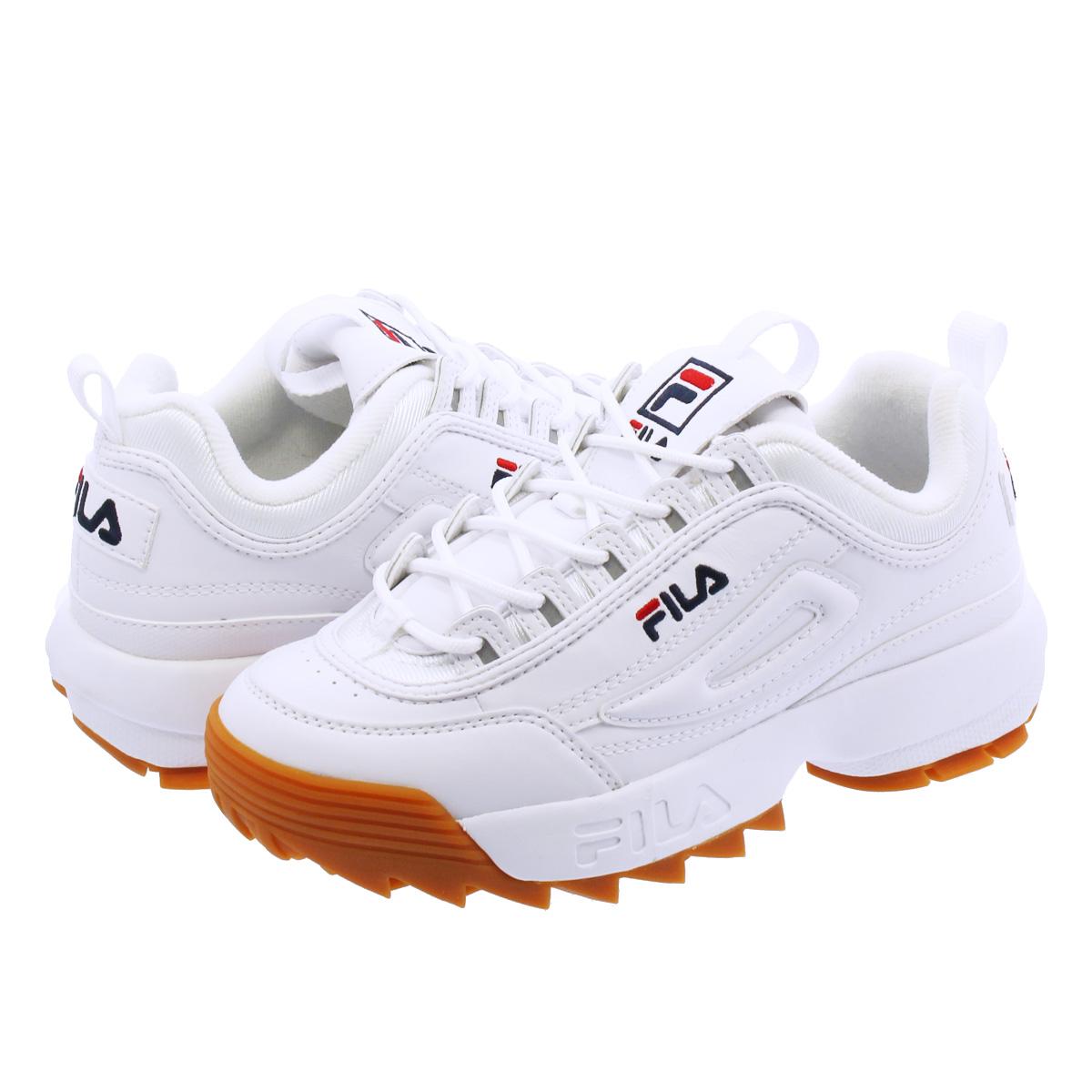 【国内店舗限定モデル】 FILA DISRUPTOR 2 フィラ ディスラプター 2 WHITE/BROWN f0215-0522