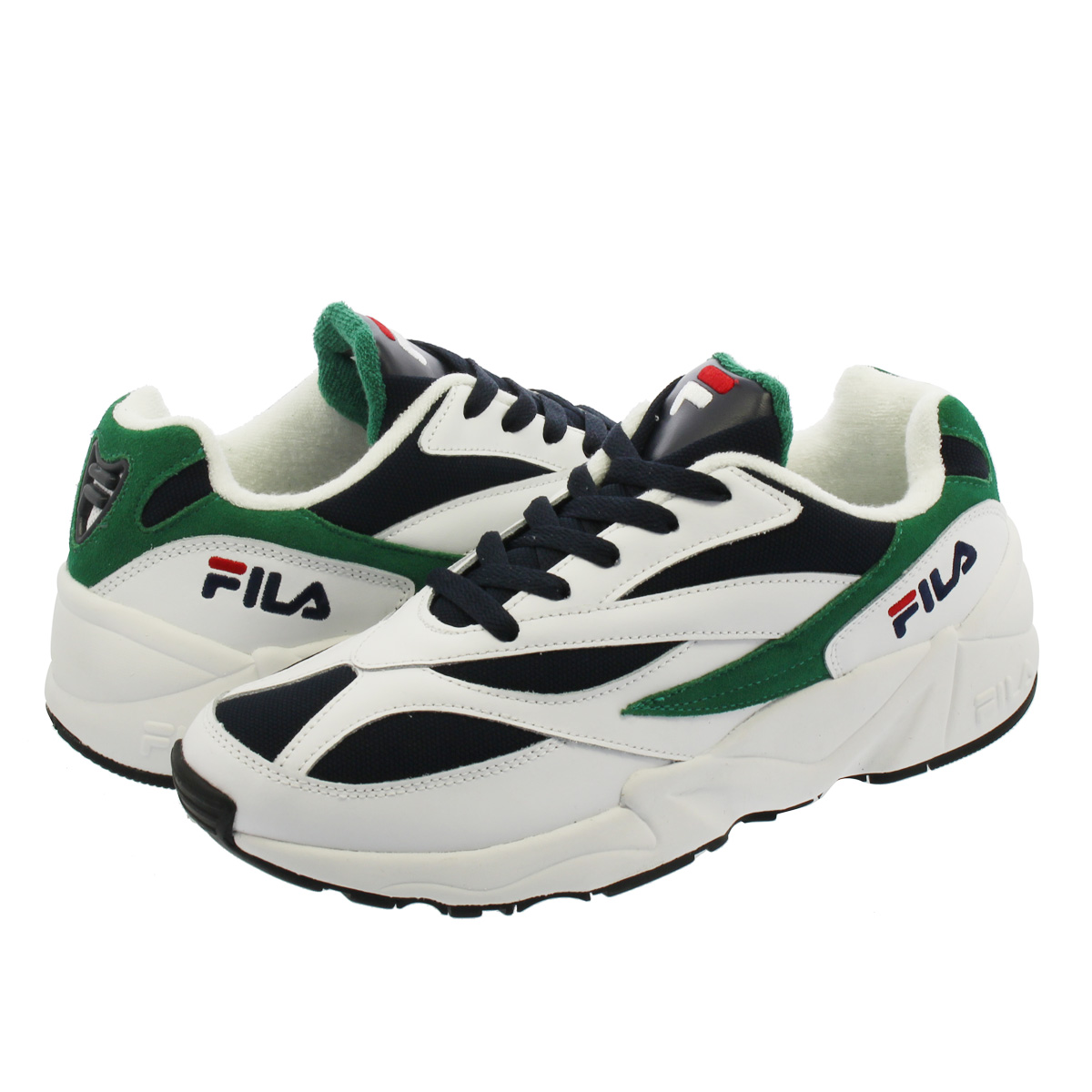 FILA VENOM フィラ ベノム WHITE/NAVY/GREEN f0305-000q