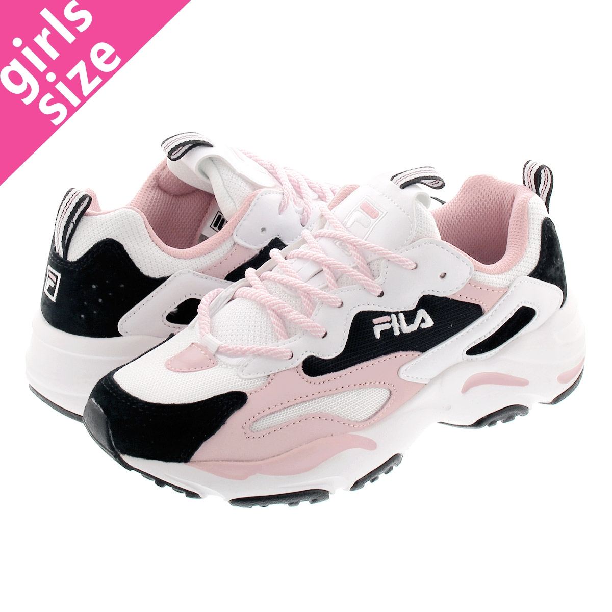 FILA RAY TRACER WMNS Fila rate racer women WHITEBLACKLIGHT PINK f5105 0119