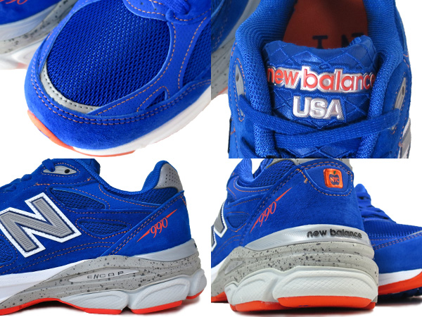 NEW BALANCE M990NM3新平衡M 990 NM3 BLUE/ORANGE