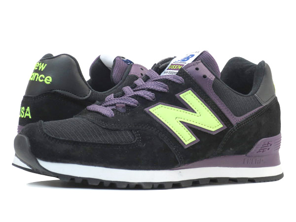 NEW BALANCE US574BG 【MADE IN U.S.A.】 ニューバランス US 574 BG BLACK/GRAPE/NEON
