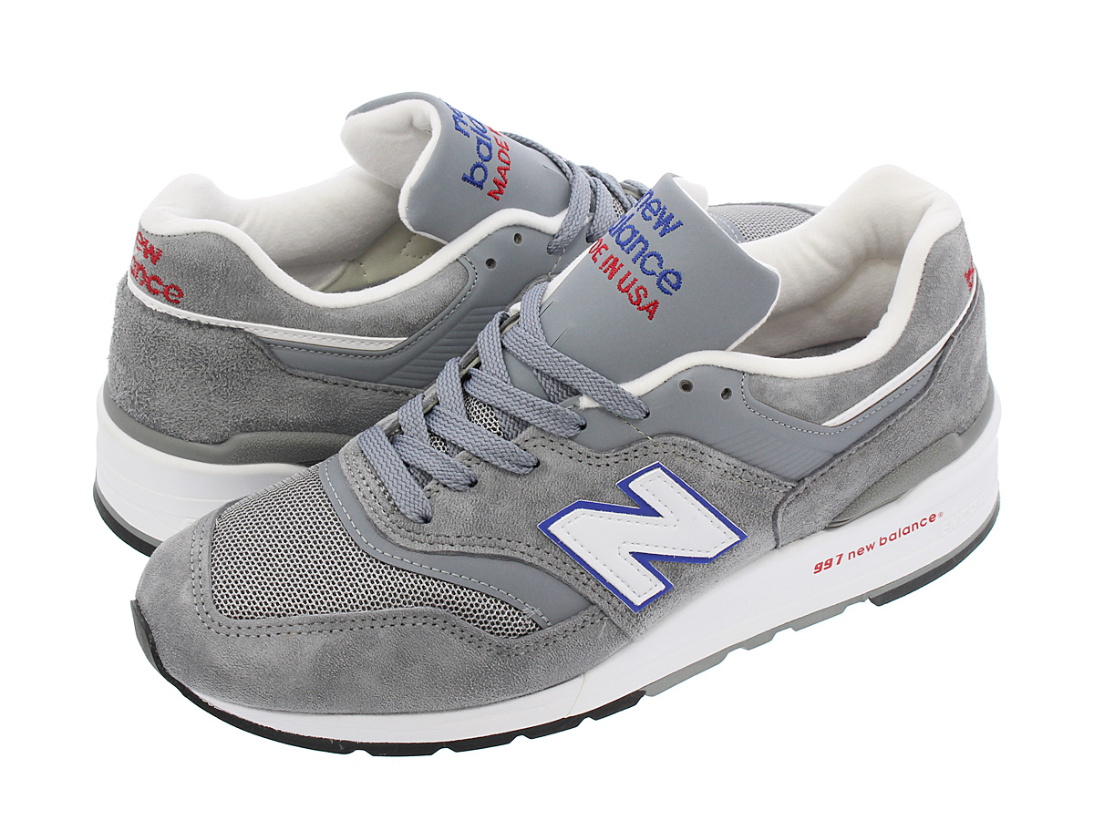 NEW BALANCE M997CNR 【MADE IN U.S.A.】【Dワイズ】 ニューバランス M 997 CNR GREY/BLUE/RED