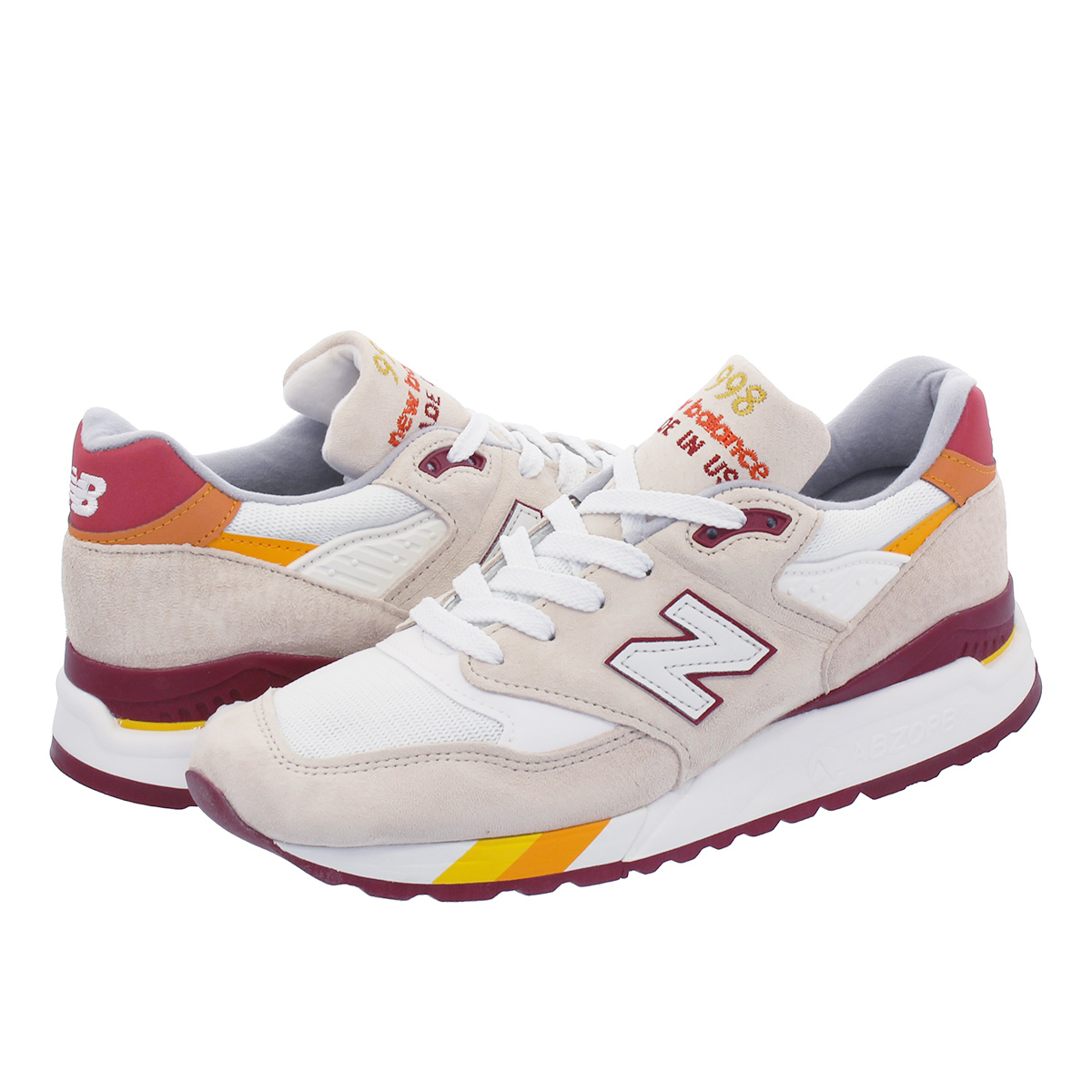 NEW BALANCE M998CST 【MADE IN U.S.A.】 【Dワイズ】 ニューバランス M 998 CST WHITE/OFF WHITE/BURGUNDY/RED