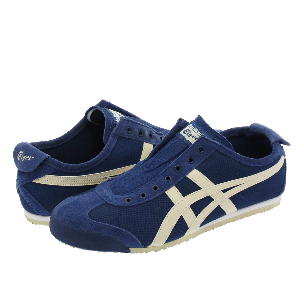 Onitsuka Tiger MEXICO 66 SLIP-ON オニツカタイガー メキシコ 66 スリッポン MIDNIGHT BLUE/OATMEAL 1183a042-400