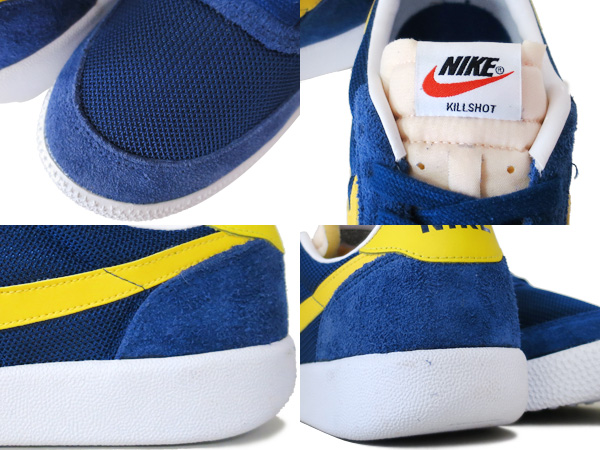 NIKE KILLSHOT VNTG Nike kill shot vintage INSIGNIA BLUE/TOUR YELLOW/WHITE