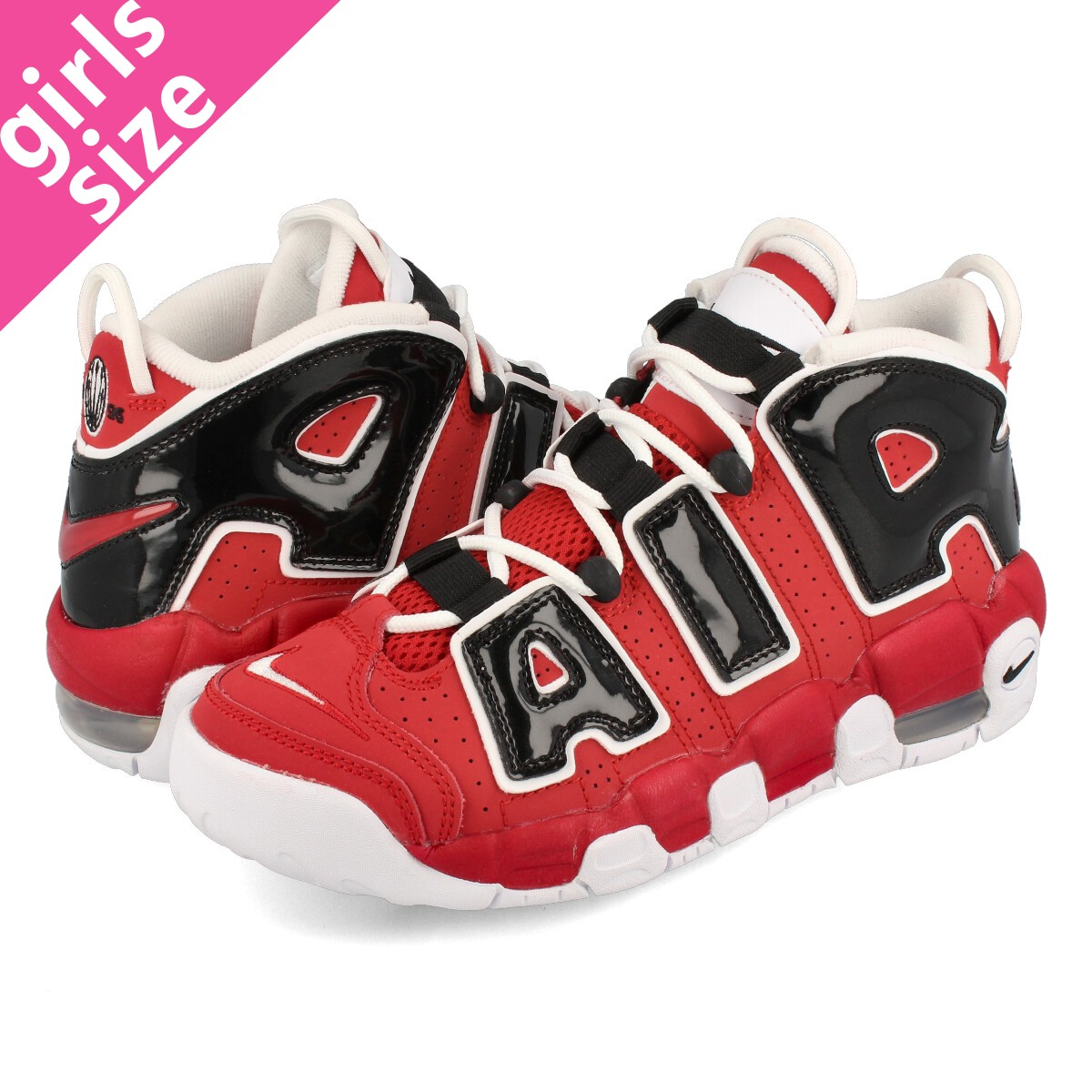 size 40 a7257 5dd72 NIKE AIR MORE UPTEMPO GS Nike more up tempo GS VARSITY RED WHITE BLACK  415,082-600