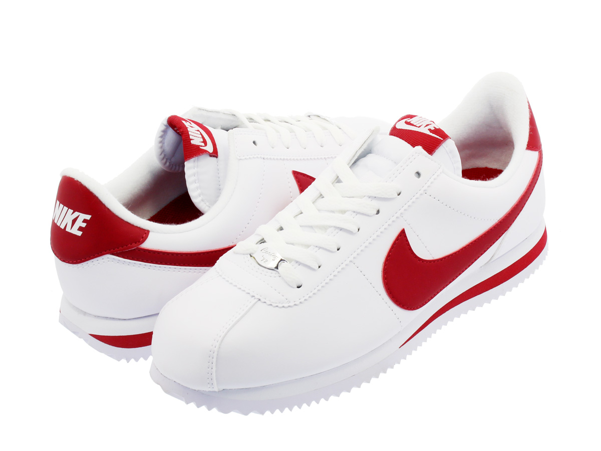 NIKE CORTEZ BASIC LEATHER ナイキ コルテッツ ベーシック レザーWHITE/GYM RED 819719-101