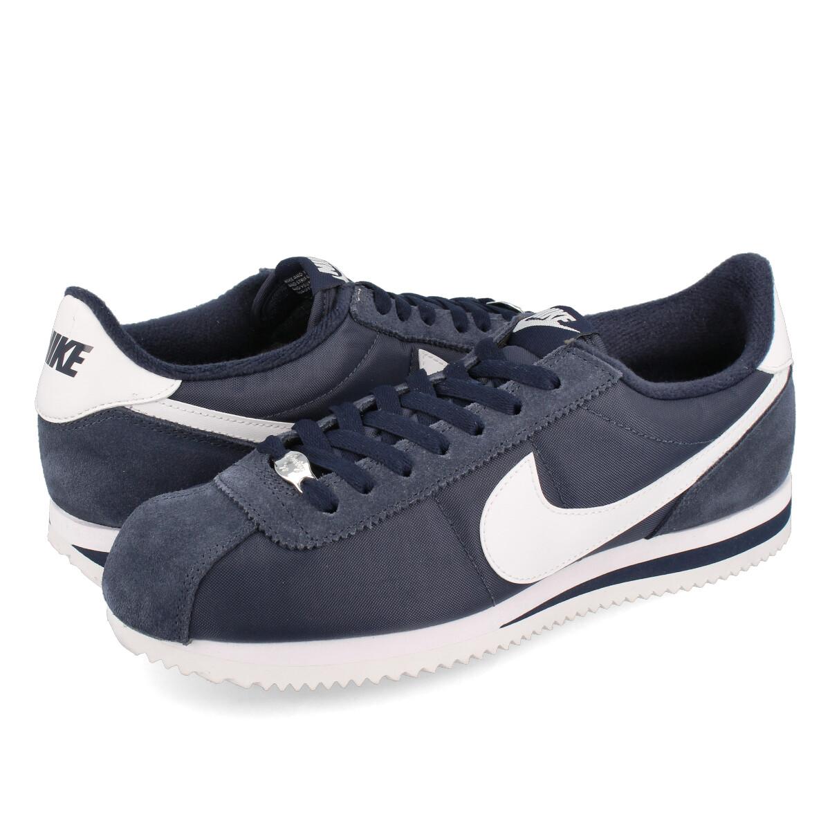 sports shoes 34f05 9e03e NIKE CORTEZ BASIC NYLON ナイキコルテッツベーシックナイロン OBSIDIAN WHITE METALLIC SILVER  819,720-411