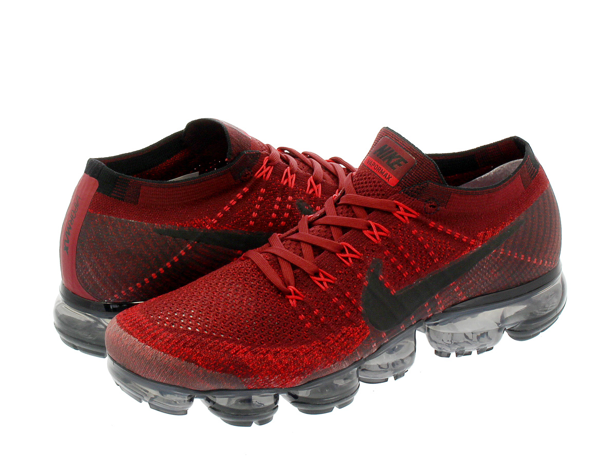 NIKE AIR VAPORMAX FLYKNIT Nike vapor max fried food knit DARK TEAM RED/BLACK/UNIVERSITY  RED