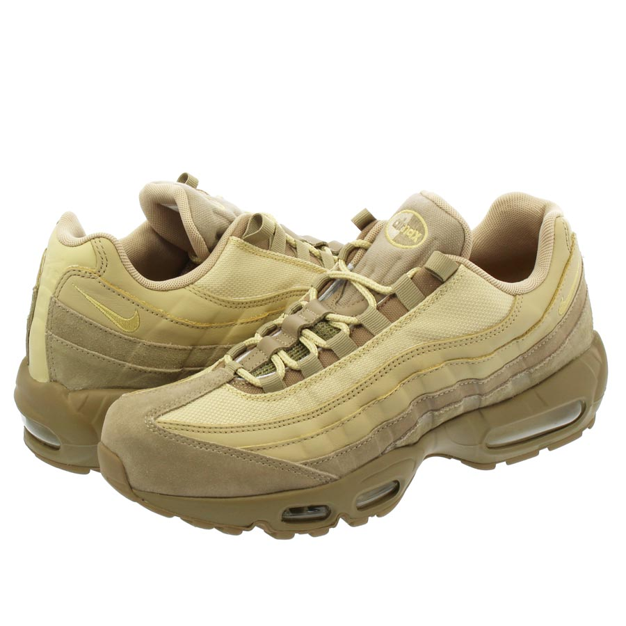 Nike Leather Air Max 95 Premium Khaki Team Gold mushroom