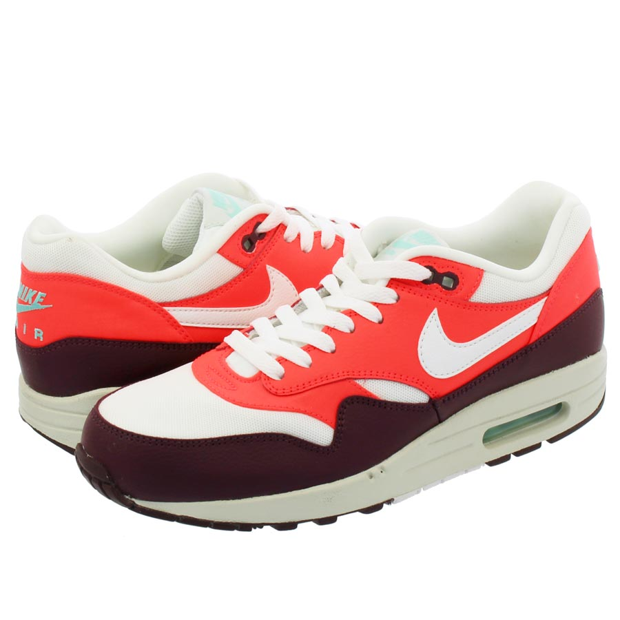 NIKE WMNS AIR MAX 1 ESSENTIAL ナイキ ウィメンズ エア マックス 1 エッセンシャル SUMMIT WHITE/SUMMIT WHITE/BRIGHT CRIMSON