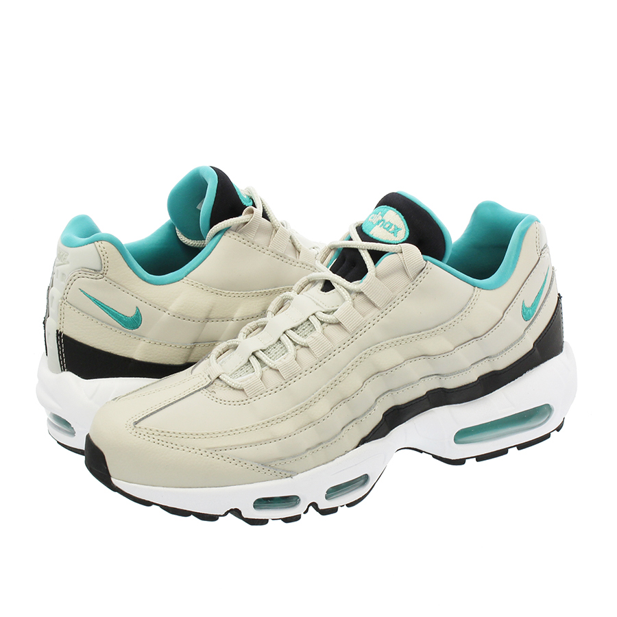 the best attitude 2ad89 636ea SELECT SHOP LOWTEX  NIKE AIR MAX 95 ESSENTIAL Kie Ney AMAX 95 essential  LIGHT BONE SPORT TURQUOISE BLACK WHITE   Rakuten Global Market