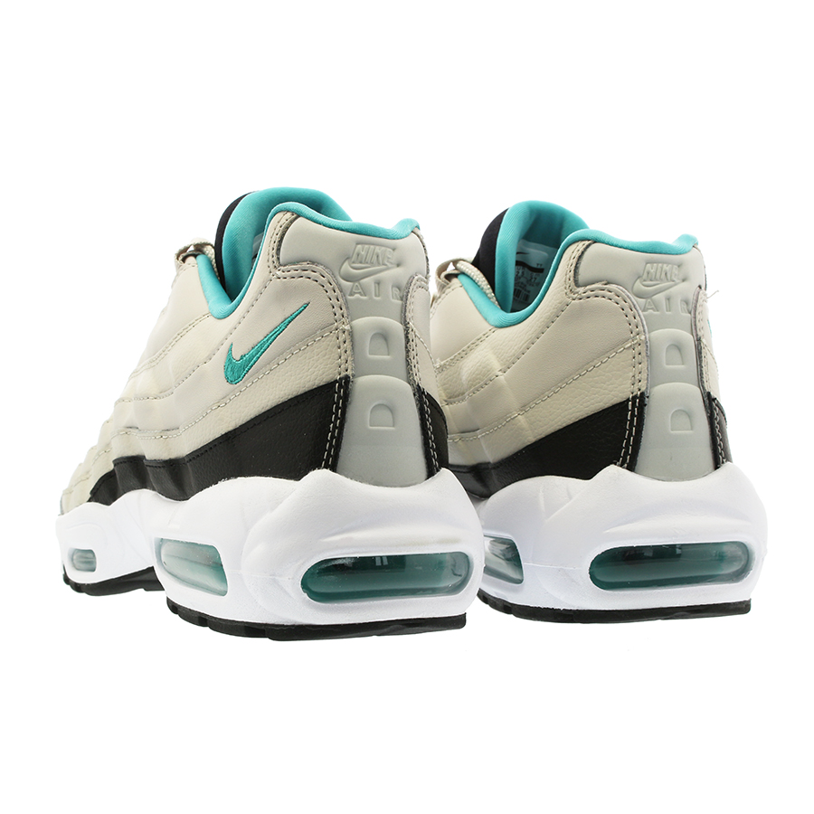 hot sale online ddbc9 7ba89 NIKE AIR MAX 95 ESSENTIAL Kie Ney AMAX 95 essential LIGHT BONE SPORT  TURQUOISE BLACK WHITE