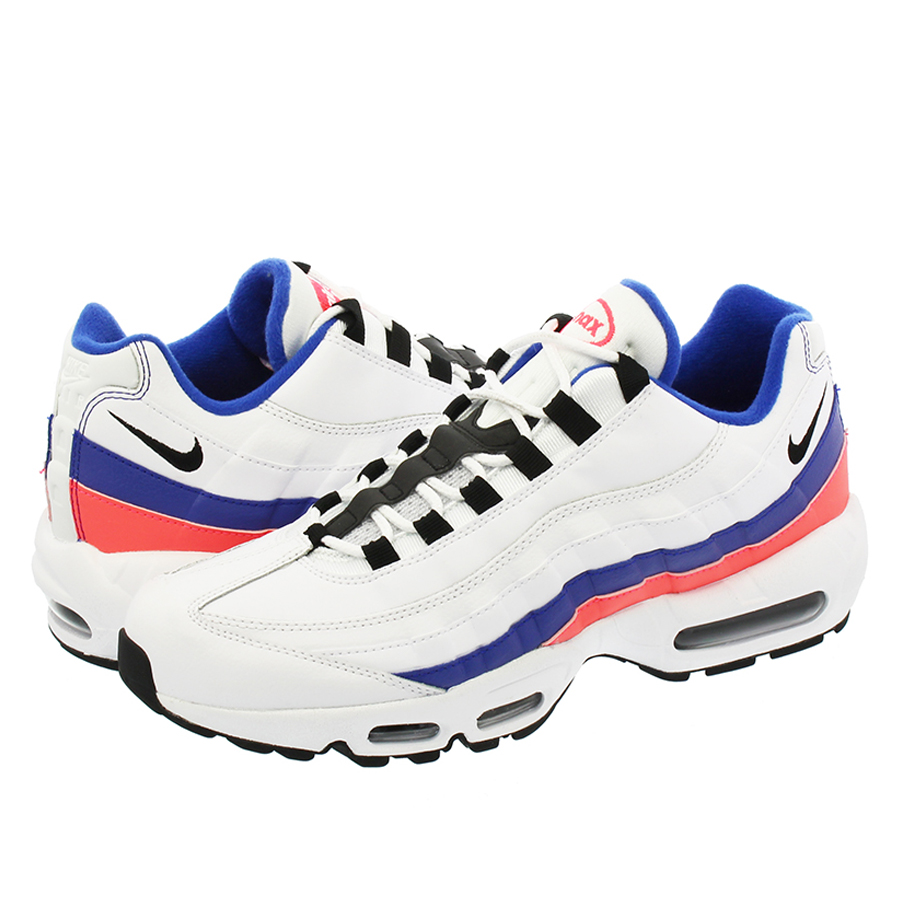 NIKE AIR MAX 95 ESSENTIAL ナイキ エア マックス 95 エッセンシャル WHITE/BLACK/SOLAR RED/ULTRAMARINE 749766-106