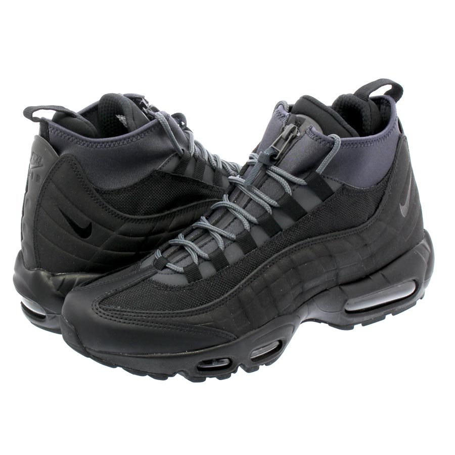 NIKE AIR MAX 95 SNEAKERBOOT Kie Ney AMAX 95 sneakers boots BLACK BLACK  ANTHRACITE WHITE 352c35d17