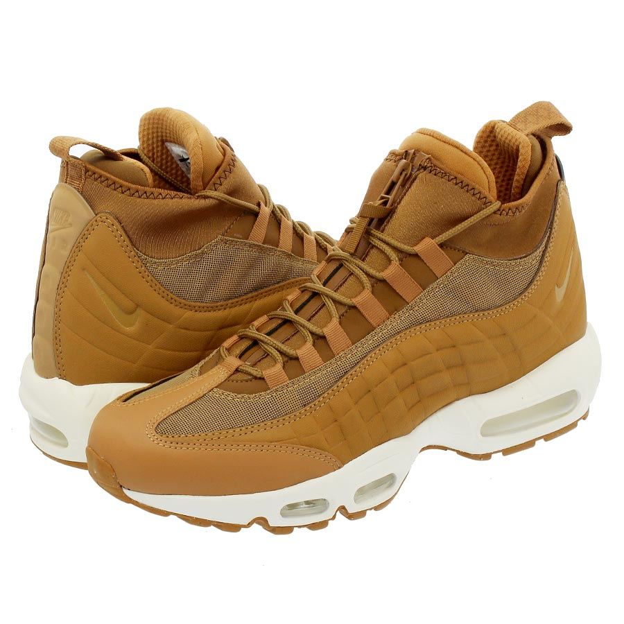new styles 2a702 0bc09 NIKE AIR MAX 95 SNEAKERBOOT Kie Ney AMAX 95 sneakers boots FLAX ALE BROWN