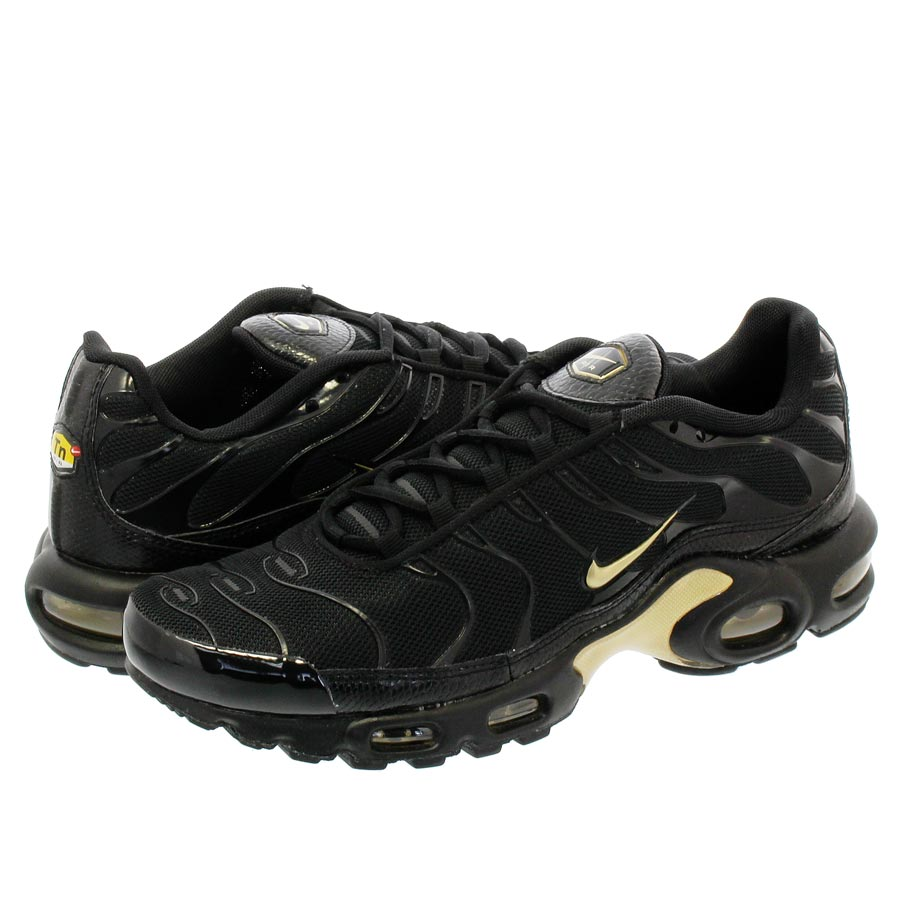 eb8a60ea70 NIKE AIR MAX PLUS Kie Ney AMAX plus BLACK/METALLIC GOLD 852,630-022