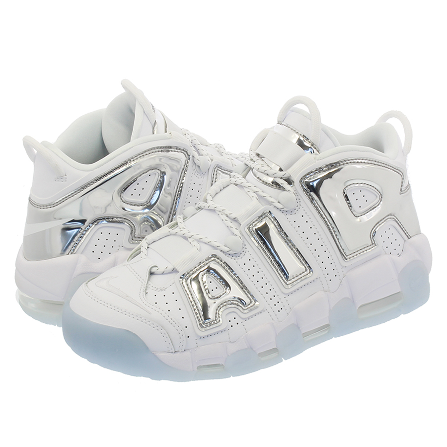 NIKE WMNS AIR MORE UPTEMPO Nike women air more up tempo WHITE CHROME BLUE  TINT 90a6ae59d0