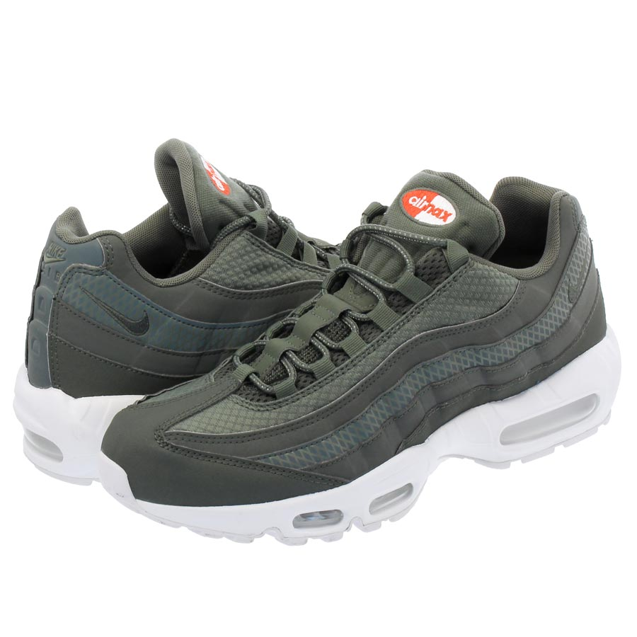 NIKE AIR MAX 95 PREMIUM SE Kie Ney AMAX 95 premium SE RIVER ROCK RIVER ROCK  WHITE TEAM ORANGE 835172f99