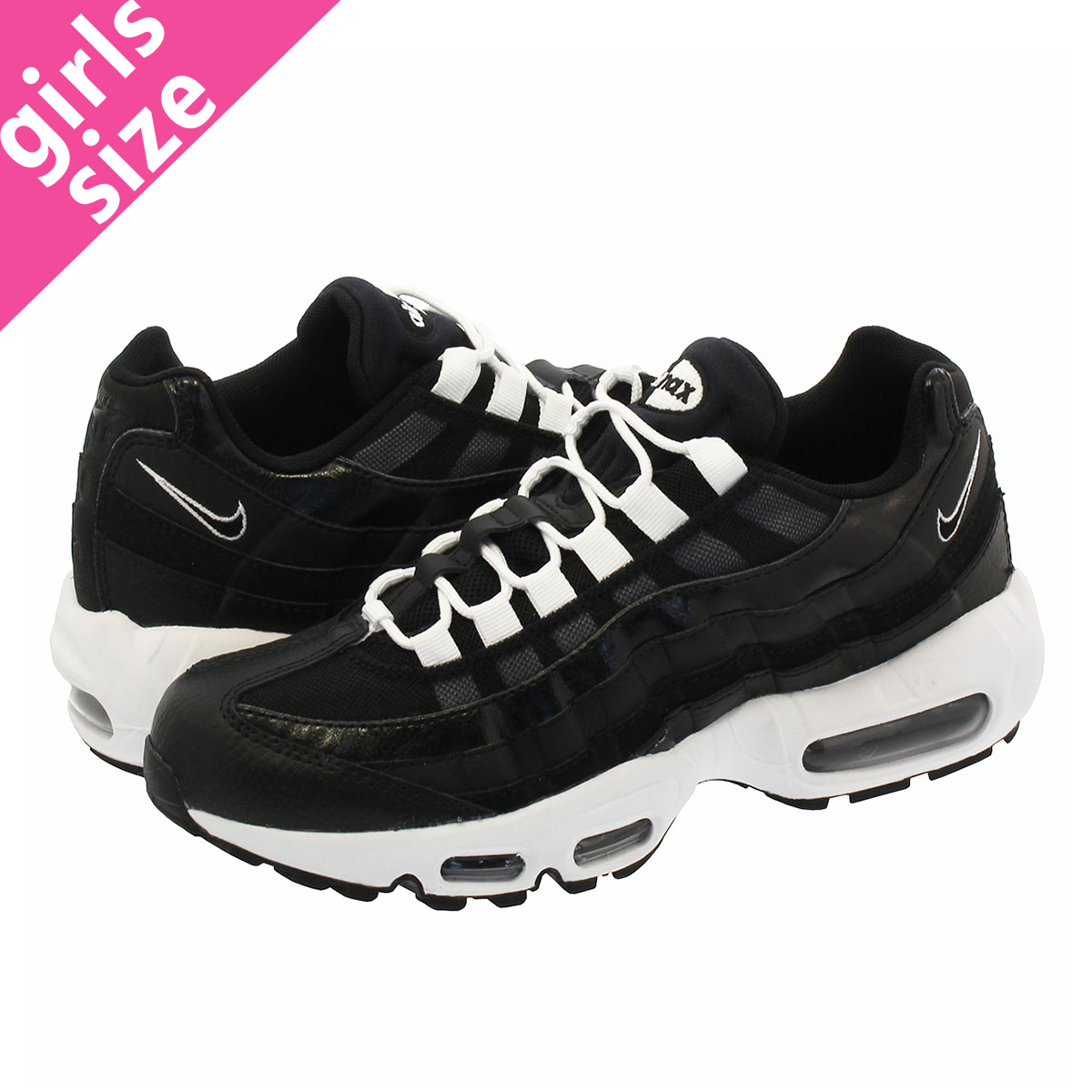 7704bce11c53f SELECT SHOP LOWTEX  NIKE WMNS AIR MAX 95 Nike women Air Max 95 BLACK ...