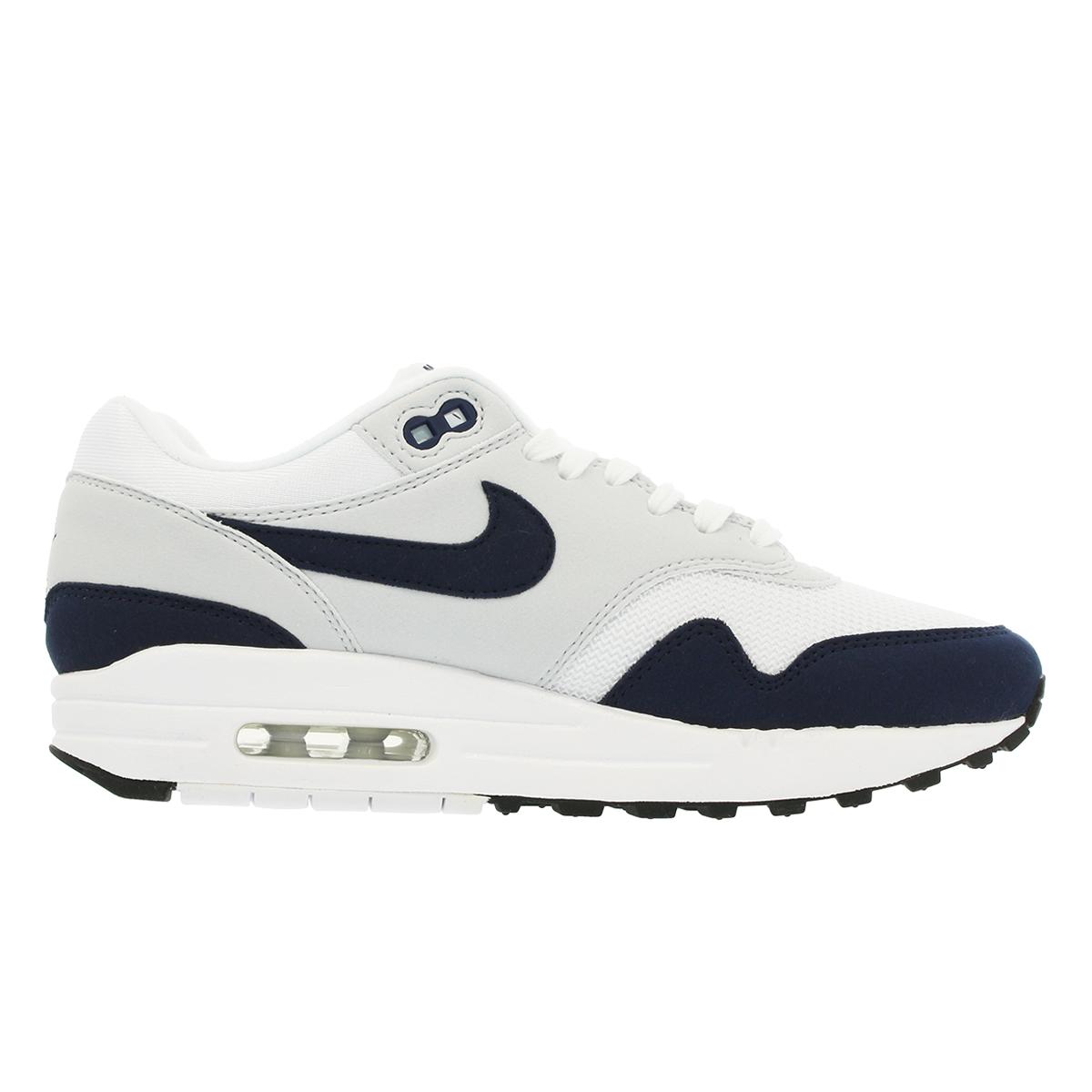 lowest price 716d3 f7661 NIKE WMNS AIR MAX 1 Nike women Air Max 1 WHITE OBSIDIAN PURE PLATINUM BLACK  319,986-104
