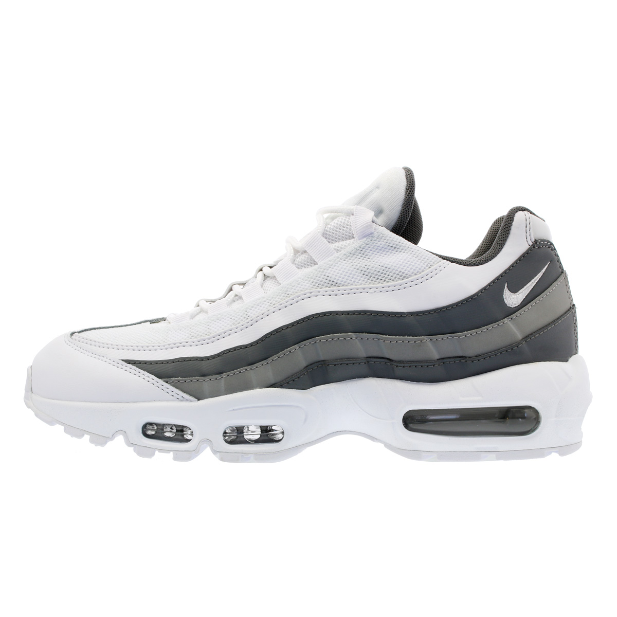 Nike Air Max 95 Essential White Cool Grey Wolf Grey 749766 105 Men's Running Shoes Sneakers