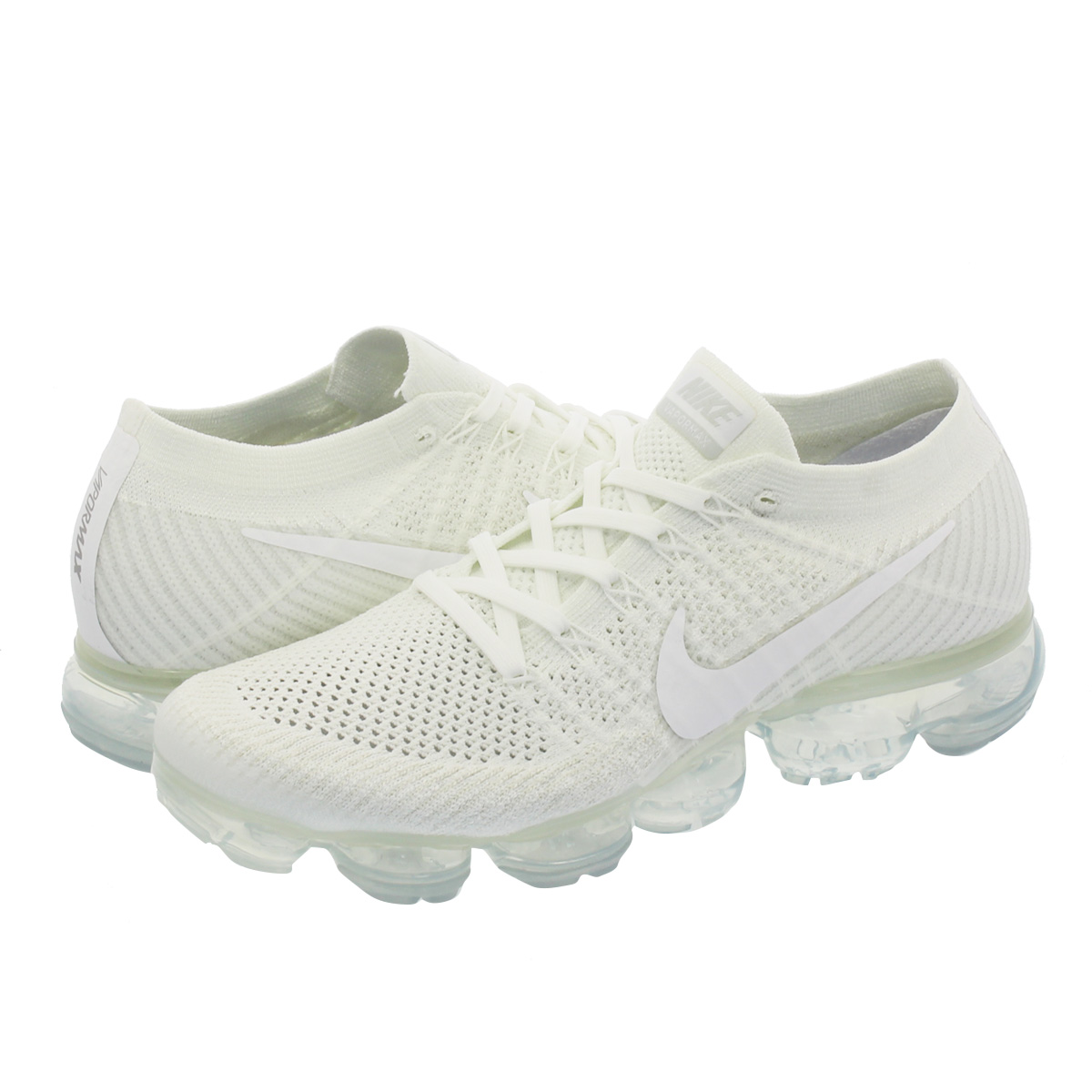 0dcec76d7a97 NIKE AIR VAPORMAX FLYKNIT Nike vapor max fried food knit WHITE WHITE SAIL LIGHT  BONE