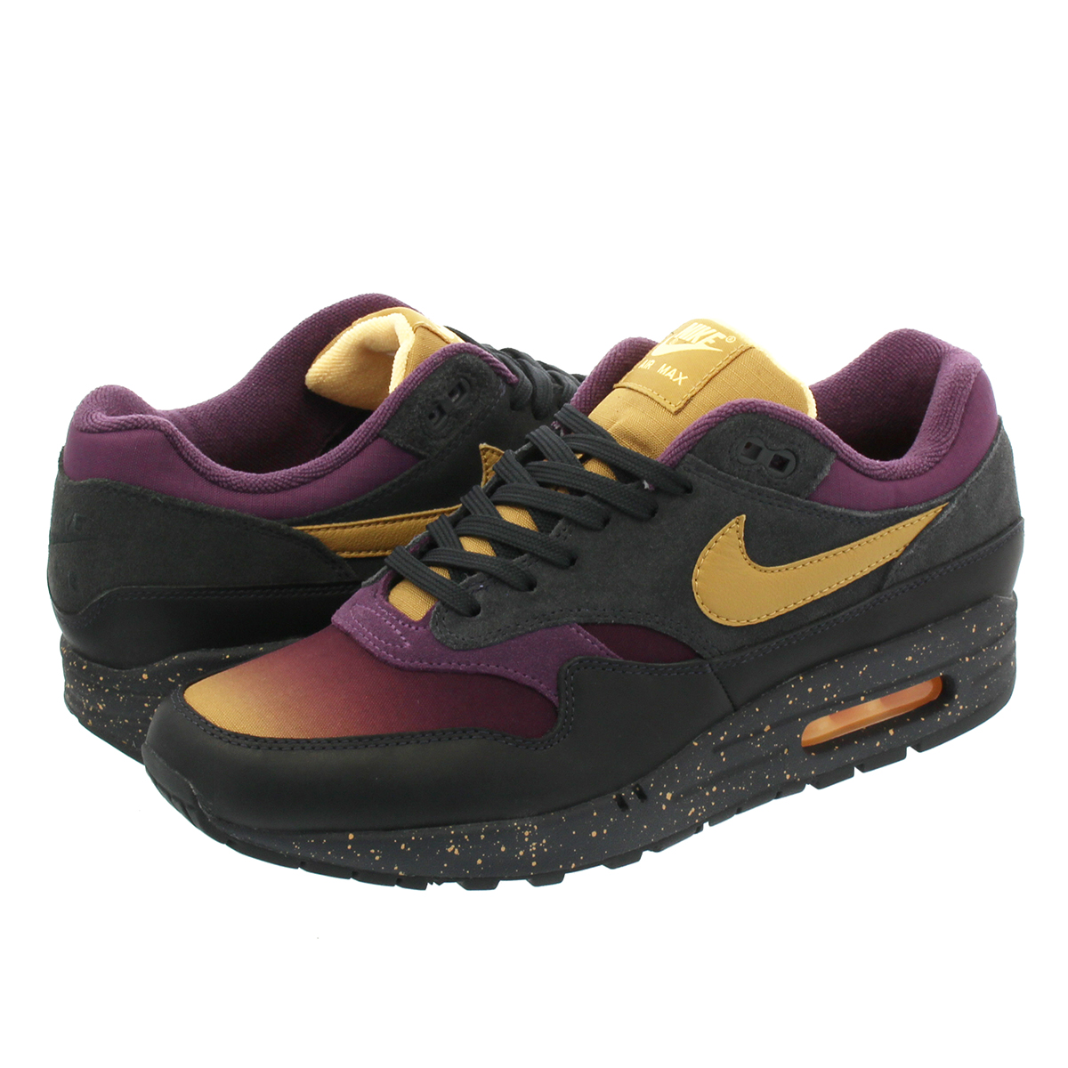 NIKE AIR MAX 1 PREMIUM Kie Ney AMAX 1 premium ANTHRACITEELEMENTAL GOLDPRO PURPLE