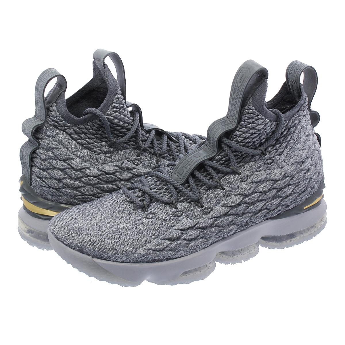 sale retailer 8e120 0e5ad NIKE LEBRON 15 Nike Revlon 15 WOLF GREY METALLIC GOLD