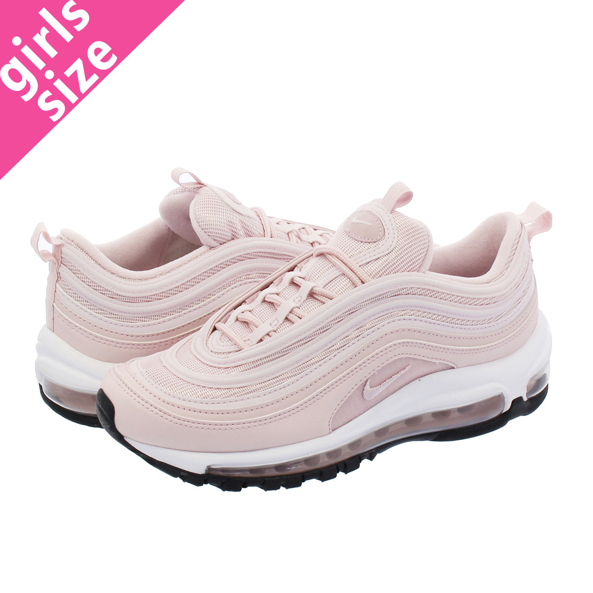 0d728330 NIKE WMNS AIR MAX 97 Nike women Air Max 97 BARELY ROSE/WHITE/BLACK  921733-600-l