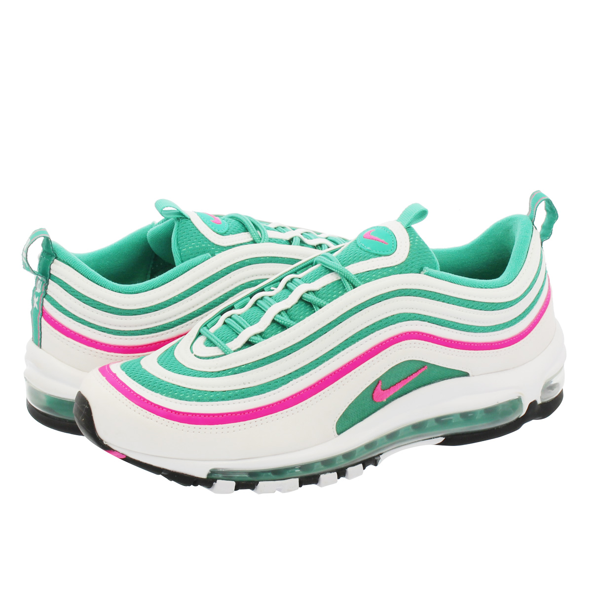 new arrival 40e00 2c568 NIKE AIR MAX 97 Kie Ney AMAX 97 WHITE PINK BLAST KINETIC GREEN BLACK.  Contact Shop