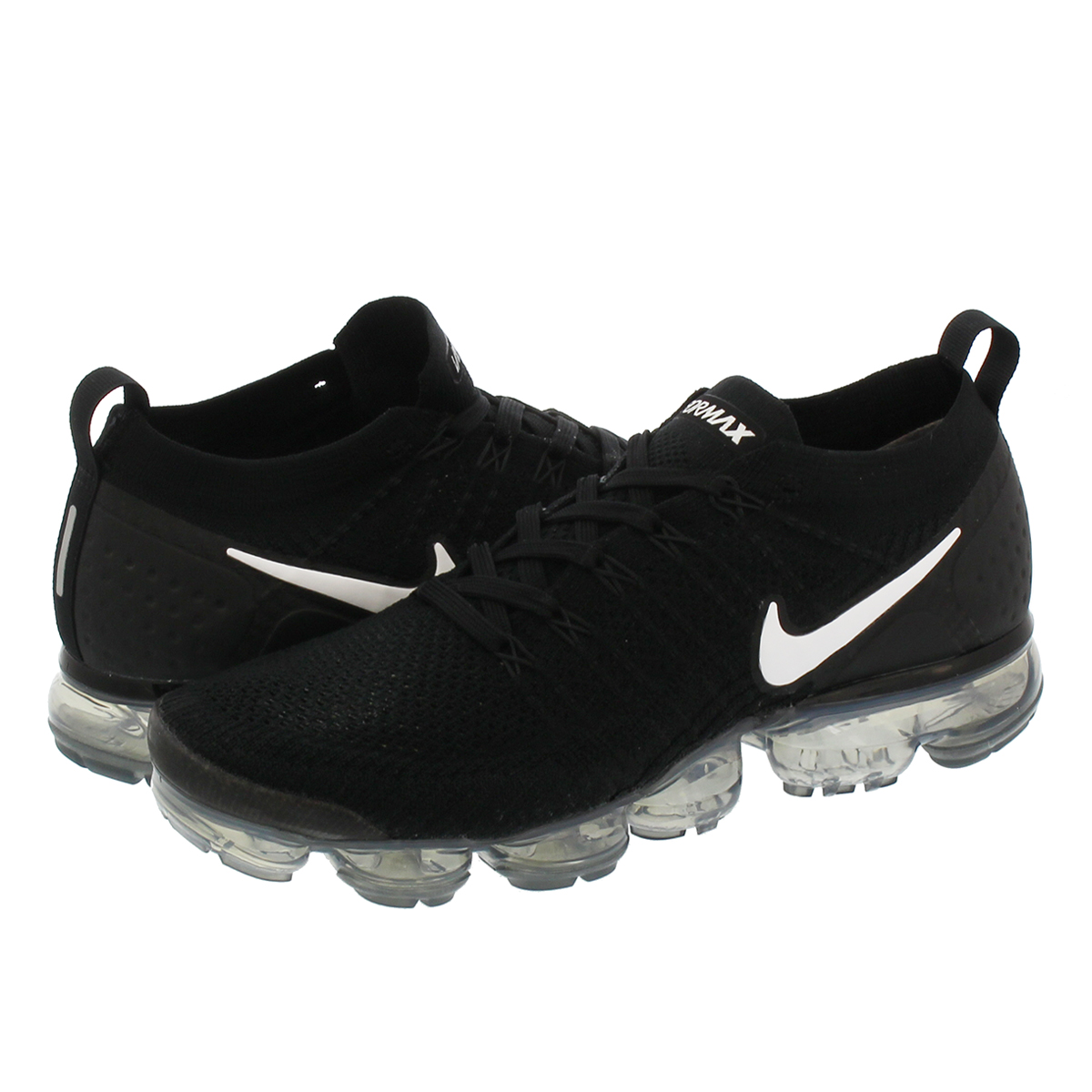 finest selection 1a9d8 6028b NIKE AIR VAPORMAX FLYKNIT 2 Nike vapor max fried food knit 2 BLACK WHITE DARK  GREY METALLIC SILVER