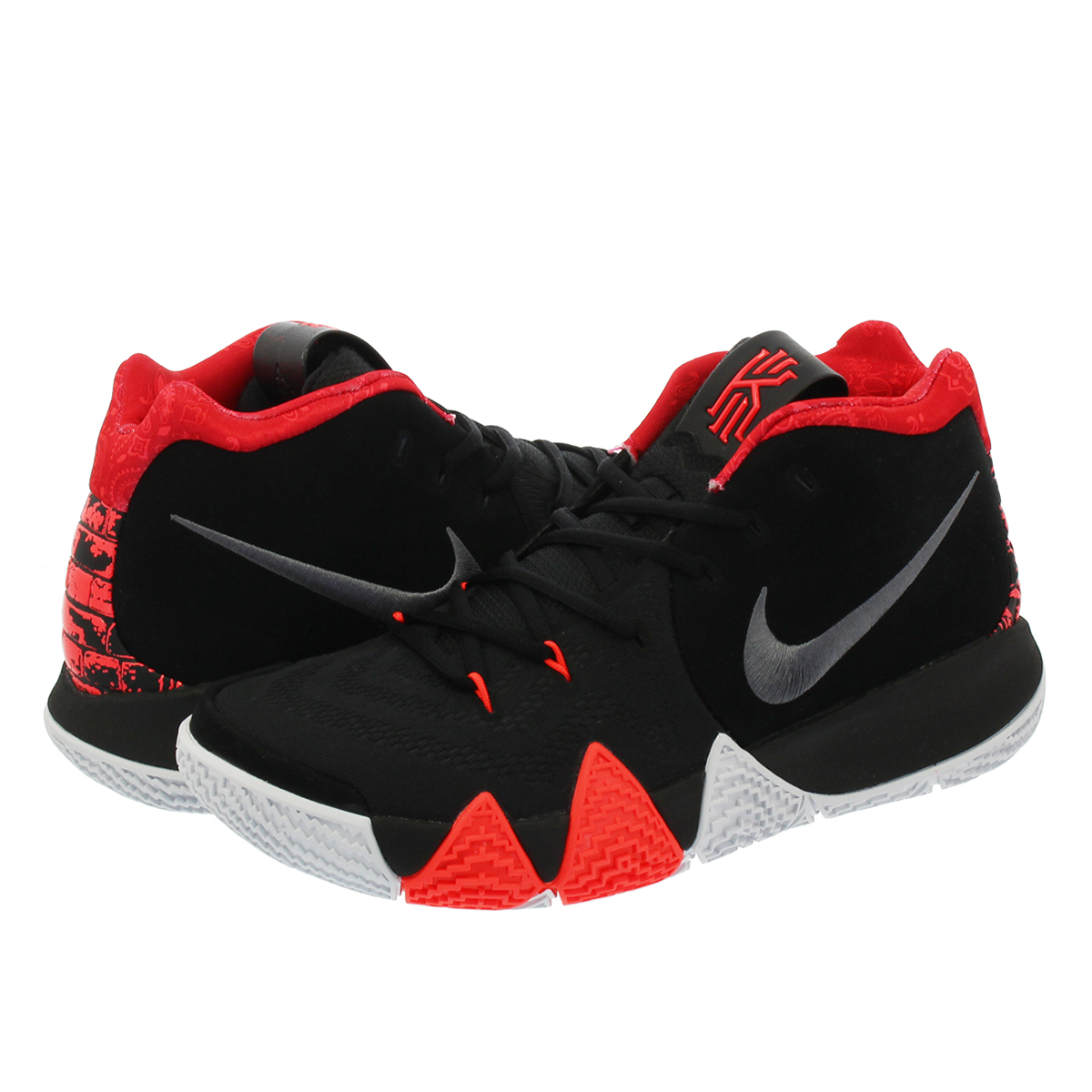 quality design 4f885 1afd0 NIKE KYRIE 4 Nike chi Lee 4 BLACK/UNIVERSITY RED/TOUR YELLOW/DARK GREY