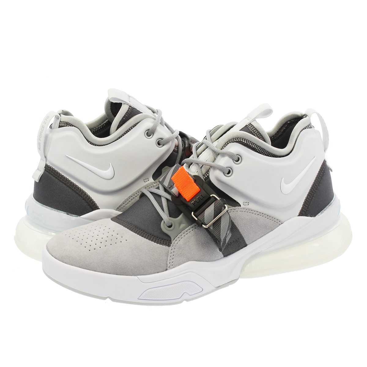 detailed look a82aa a0e2a NIKE AIR FORCE 270 Nike air force 270 WOLF GREY/WHITE/DARK GREY/SAIL
