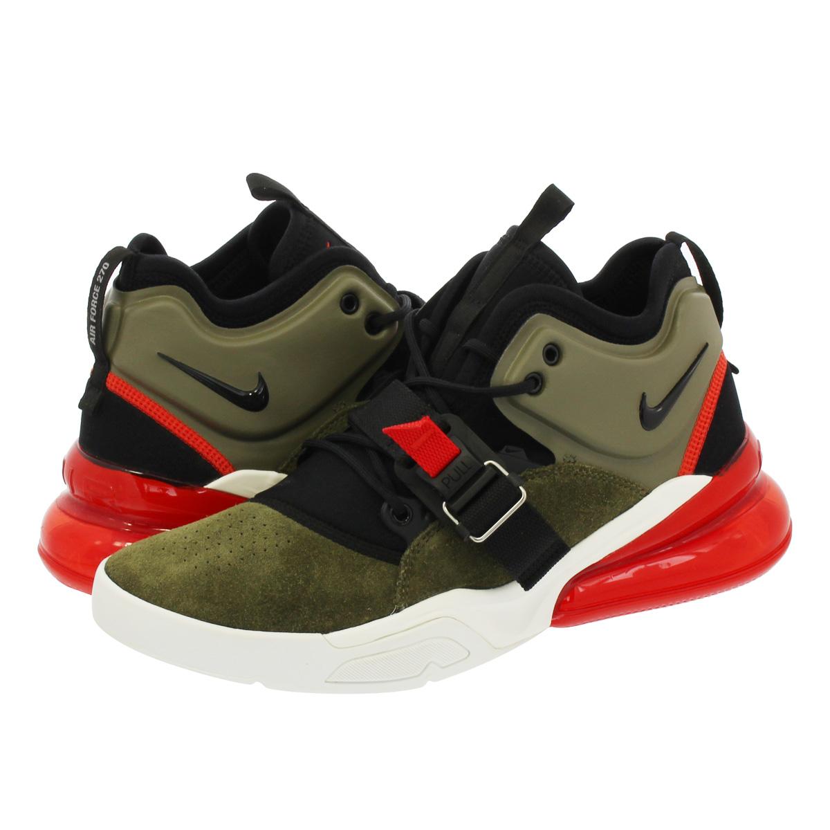 f92c6ca06d NIKE AIR FORCE 270 Nike air force 270 MEDIUM OLIVE/BLACK/CHALLENGE RED/