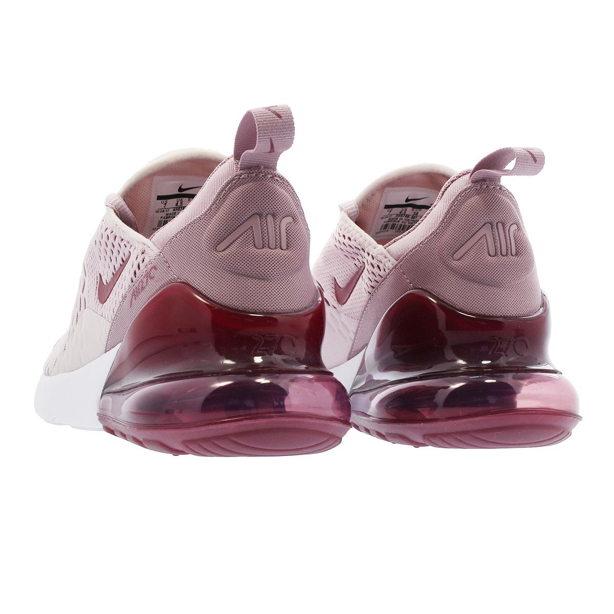 NIKE WMNS AIR MAX 270 Nike women Air Max 270 BARELY ROSEWHITEVINTAGE WINE ah6789 601 l