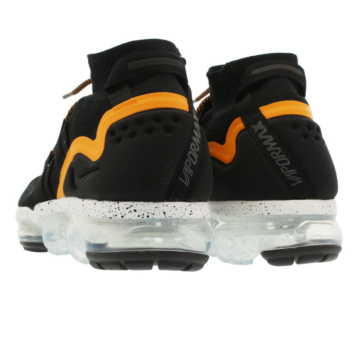 9e0048daa761 NIKE AIR VAPORMAX FLYKNIT UTILITY Nike vapor max fried food knit utility  BLACK ORANGE PEEL